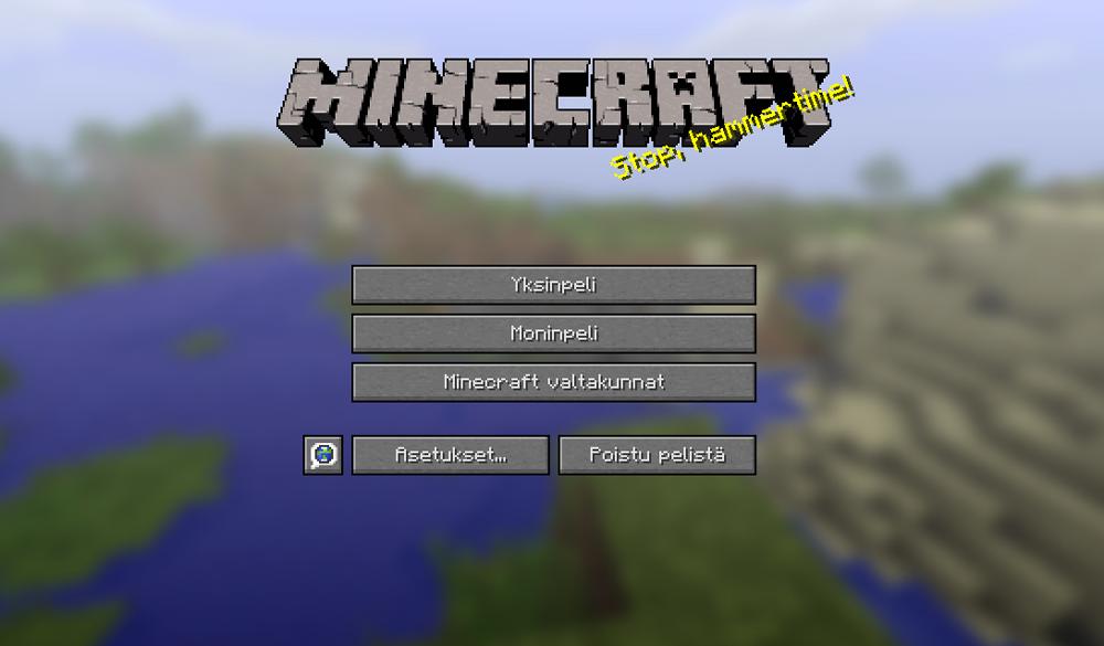 Kirjautuminen Minecraftiin.