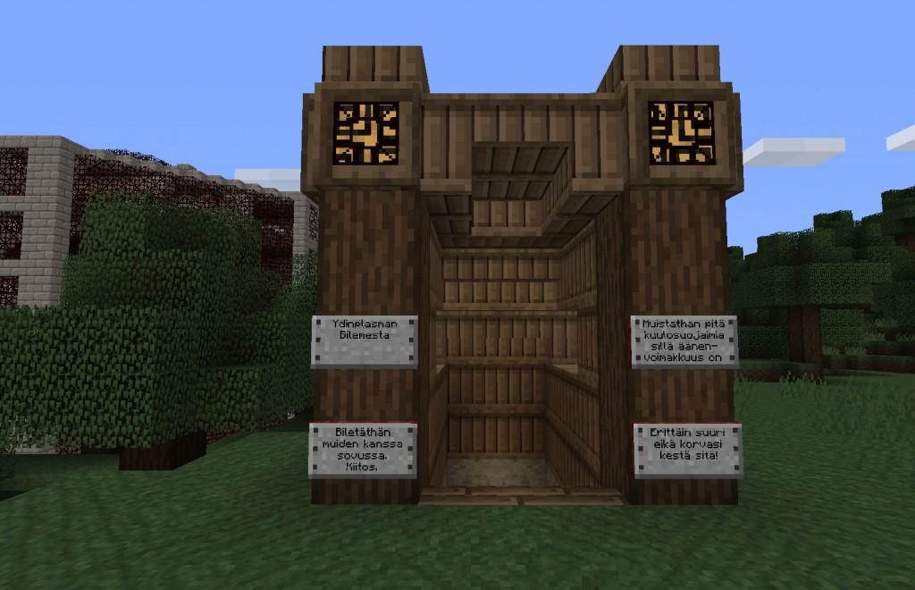 Puinen rakennelma, jossa lukee Bilemesta.