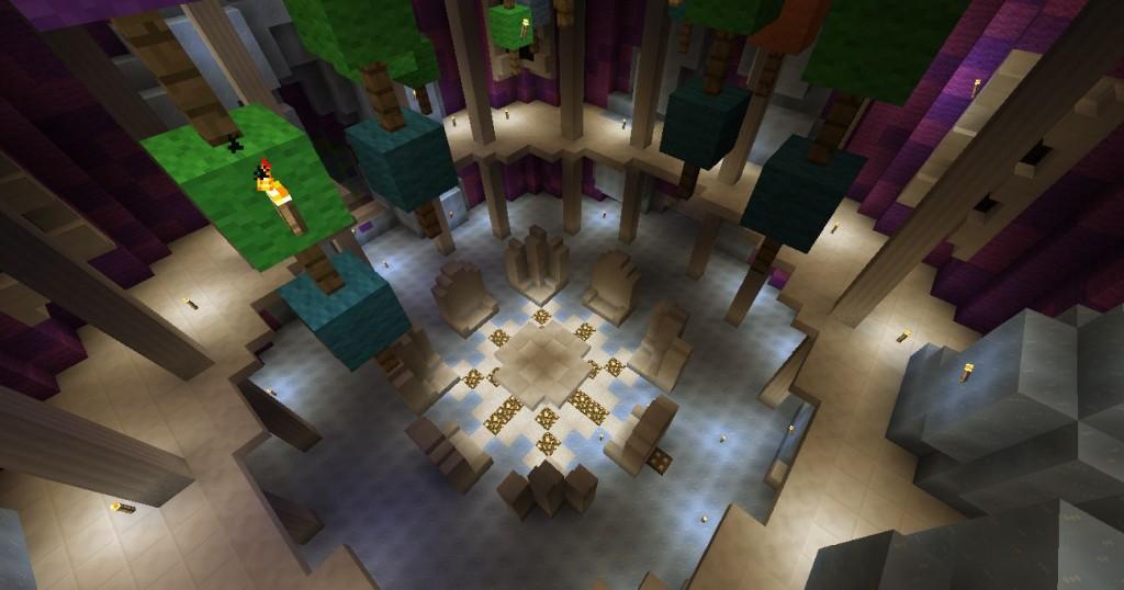 Linnan pyöreä sali.