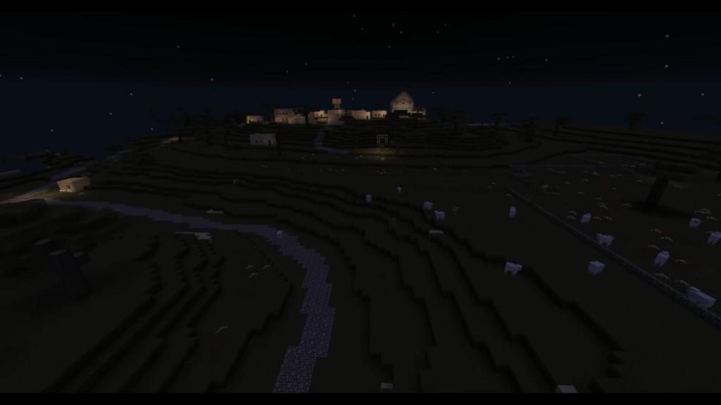Betlehemin kaupunki yöllä