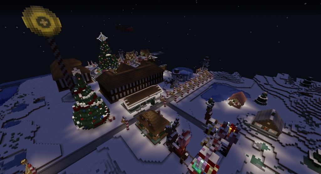 Joulumaa yöllä.