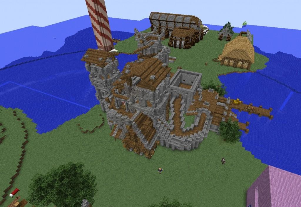 Linna kuvattu yhäältä alaspäin.