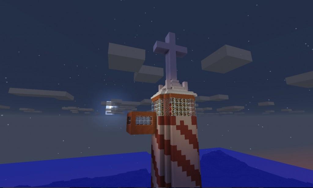 Tornin katossa on risti.