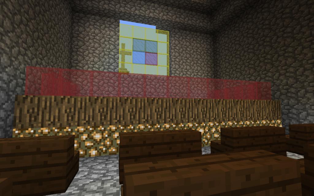 Minecraftissa rakennettu kirkko