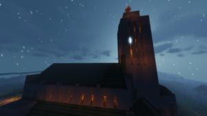 Kirkko yöllä.