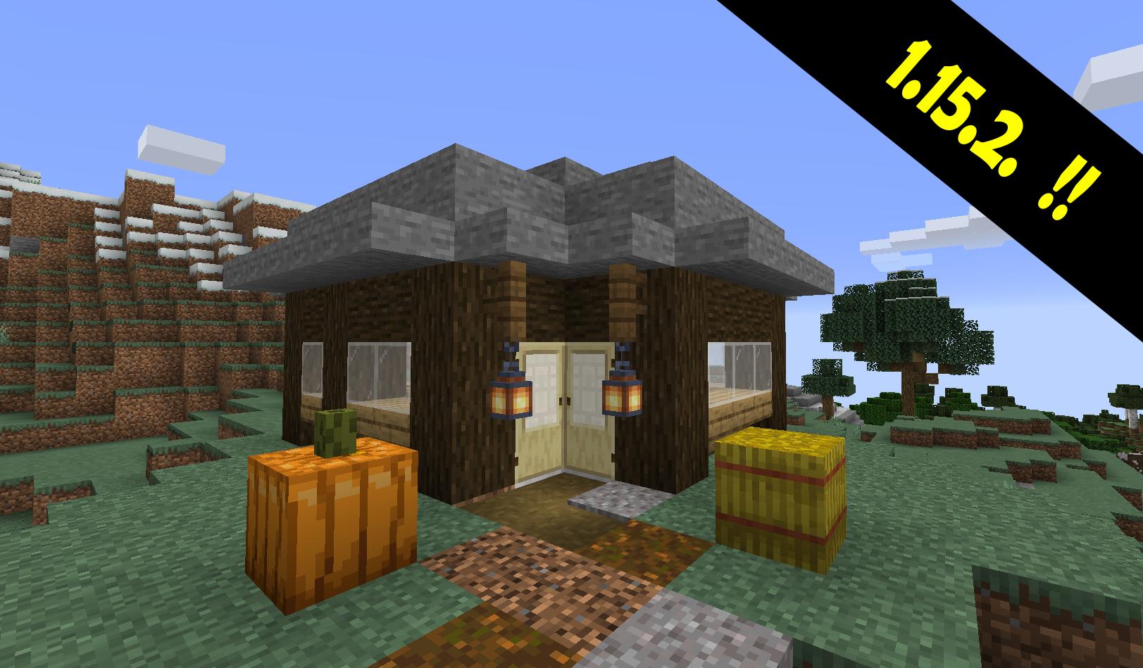 Pieni puinen talo Minecraftissa.
